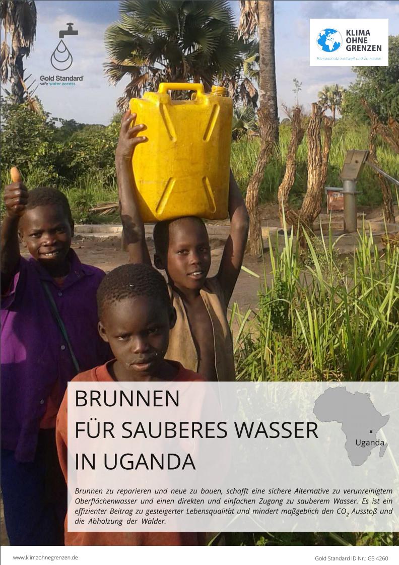 Klima Ohne Grenzen Gold Standard Für sauberes Wasser in Uganda - Breckle Weida