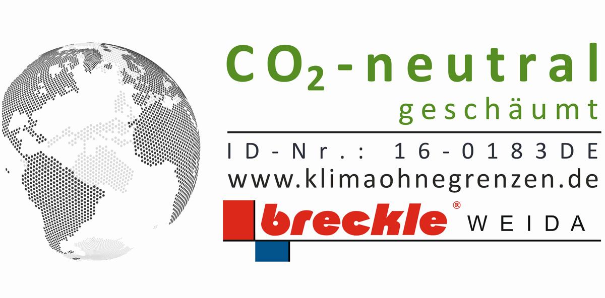 CO2-neutral geschäumt ID-Nr klimaohnegrenzen.de by Breckle-Weida