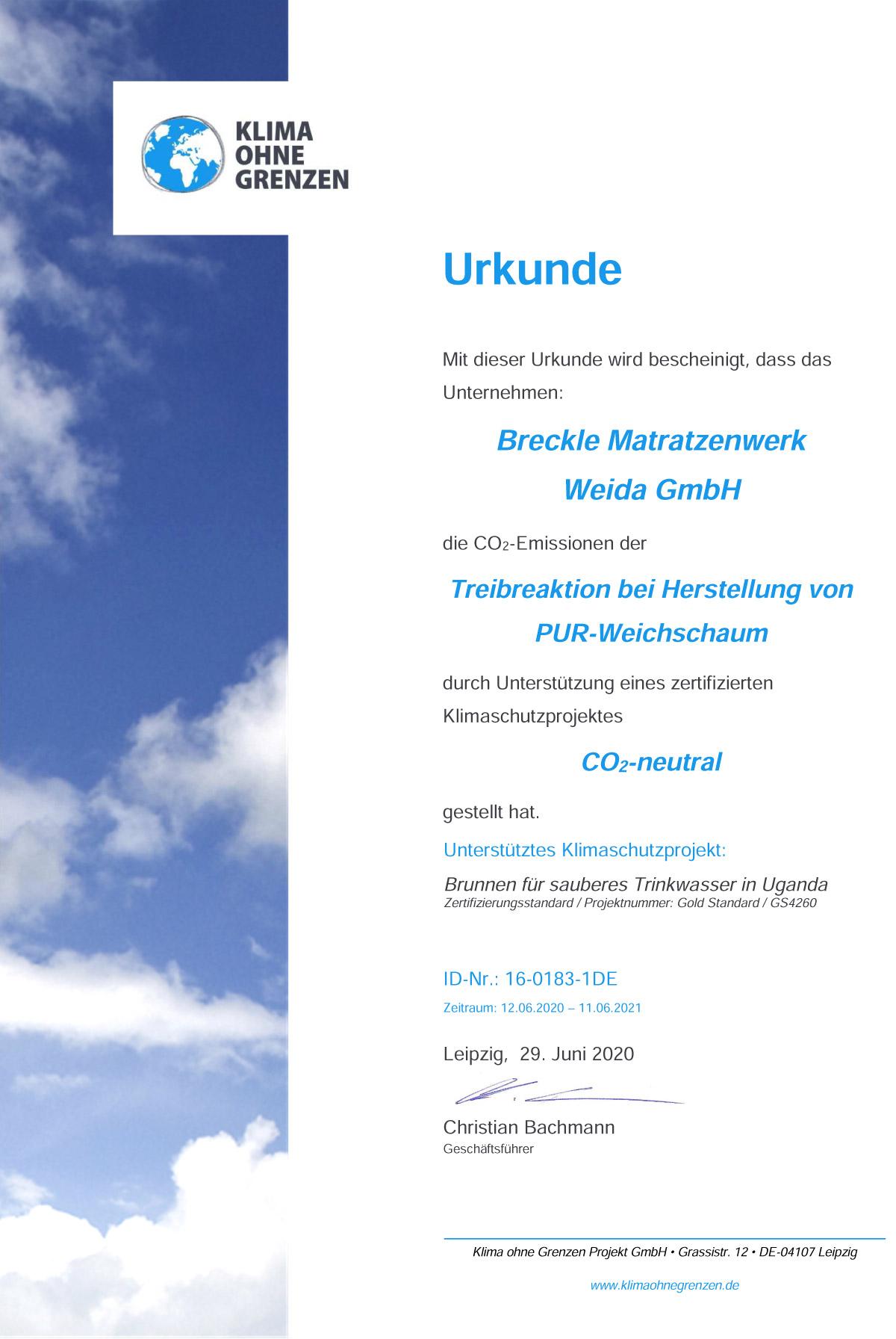 16-0183-1DE_BreckleWeida_CO2Urkunde2020